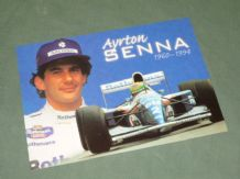 AYRTON SENNA Williams Renault. Postcard (Pyramid)